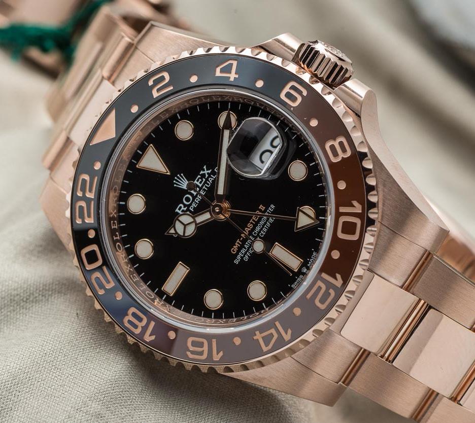 Rolex GMT Master II in rose gold